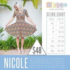 LuLaRoe Dresses - Memorial Day Sale Nwt Lularoe 2XL Nicole Dress